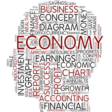 economic interest: Word cloud - economic Stock Photo