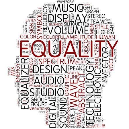 Word cloud - equality photo