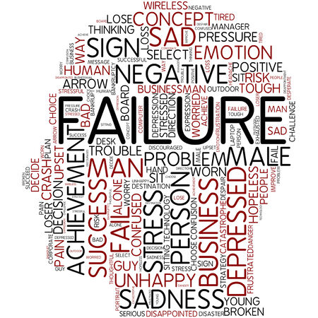 failed strategy: Word cloud - failure