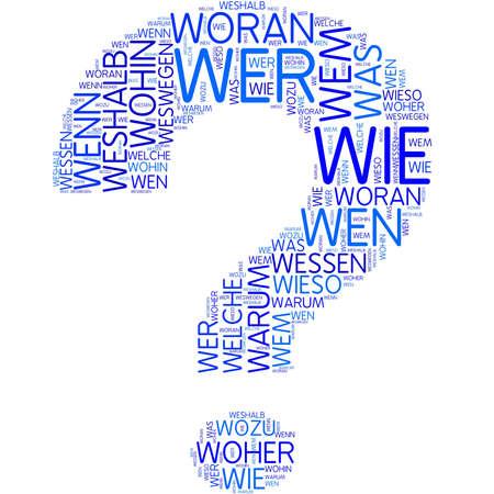 german mark: Word cloud - question
