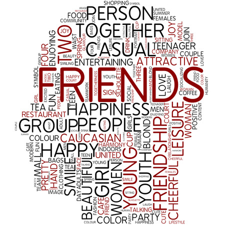 Word cloud - friends photo