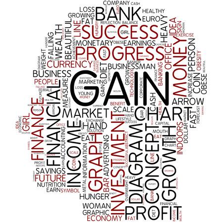 weight gain: Word cloud - gain