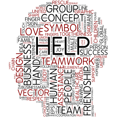 Word cloud - help photo
