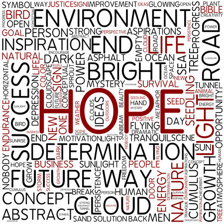 Word cloud - hope photo
