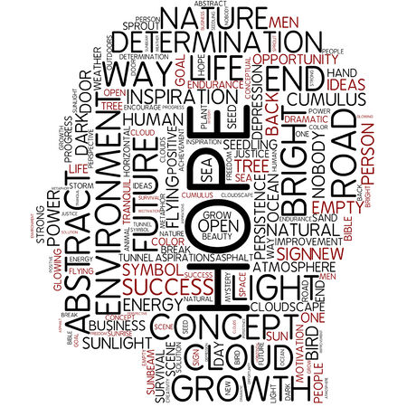 light at the end of the tunnel: Word cloud - hope