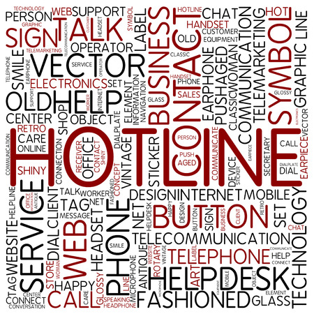 Word cloud - hotline photo