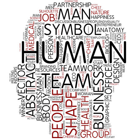 Word cloud - human photo