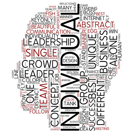 an individual: Word cloud - individual