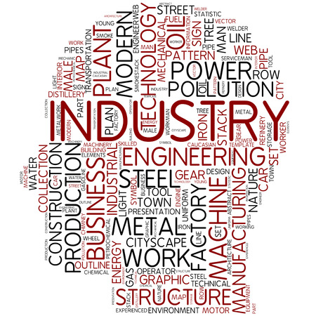 metal worker: Word cloud - industry Stock Photo