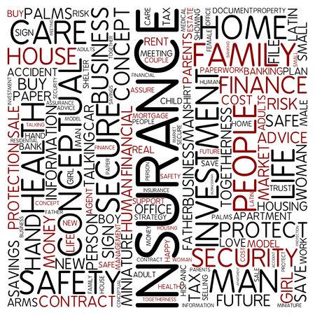 Word cloud - insurance photo