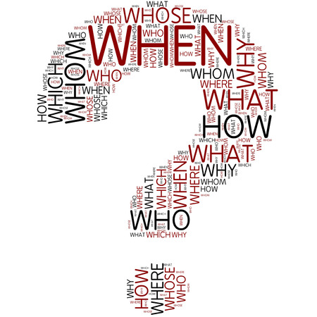 question mark | Word Art photo