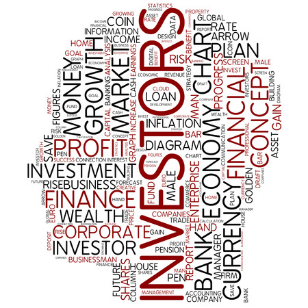 financial growth: Word cloud - investors Stock Photo