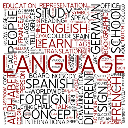 foreign: Word cloud - language