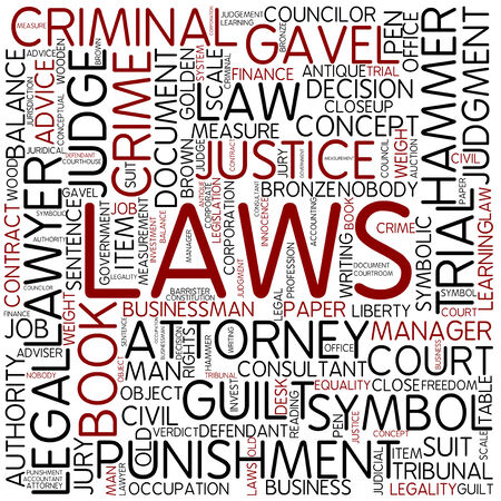Word cloud - laws photo