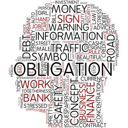 obligation: Word cloud - obligation