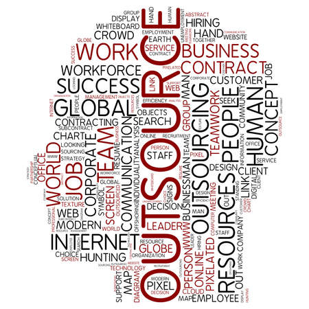 outsourcing: Word cloud - outsource