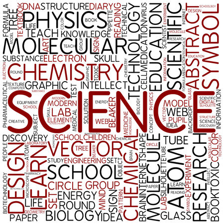 Word cloud - science photo