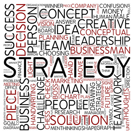 Word cloud - strategy photo
