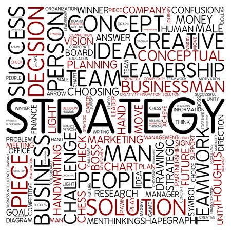 Word cloud - strategy photo