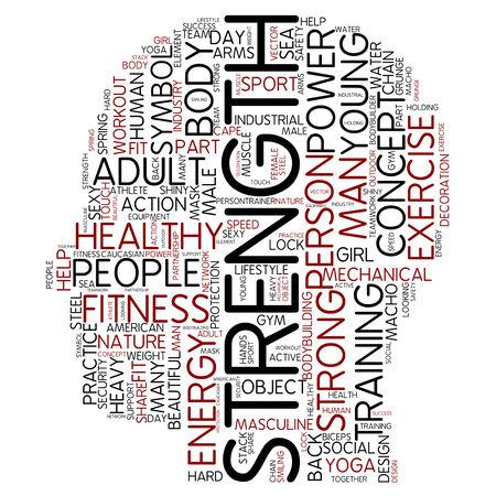 creative strength: Word cloud - strength