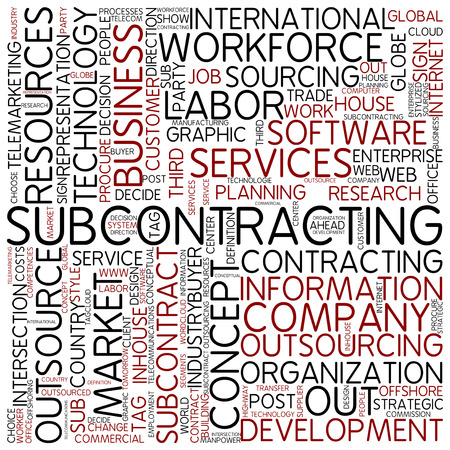 Word cloud - subcontracting photo
