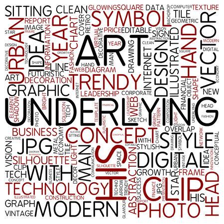 underlying: Word cloud - underlying