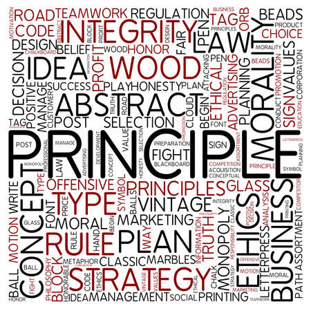 Word cloud - principle photo
