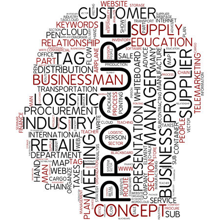 relationship strategy: Word cloud - procure Stock Photo