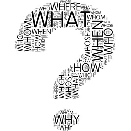 know how: question mark | Word Art