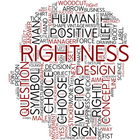 Word cloud - rightness photo