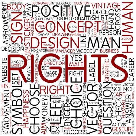 Word cloud - rights photo