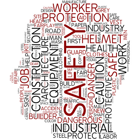 personal protective equipment: Word cloud - safety Stock Photo