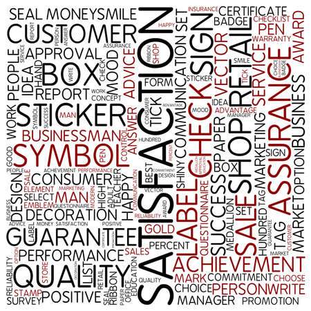 Word cloud - satisfaction photo