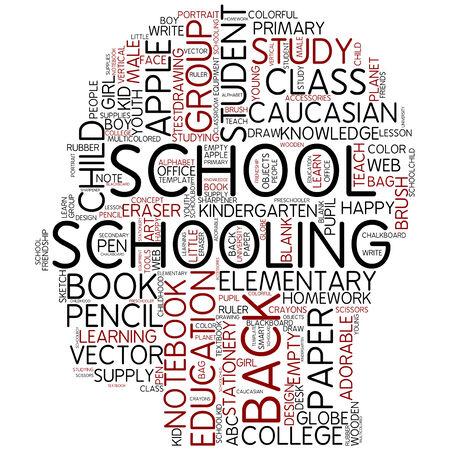 Word cloud - schooling photo