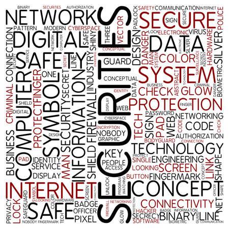 secret identities: Word cloud - securities Stock Photo