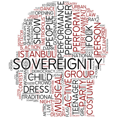 sovereignty: Word cloud - sovereignty Stock Photo