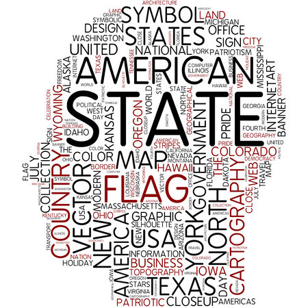 Word cloud - state photo