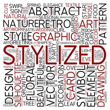 Word cloud - stylized photo