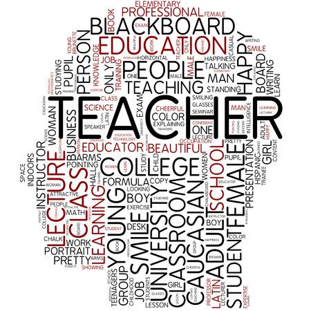 Word cloud - teacher photo