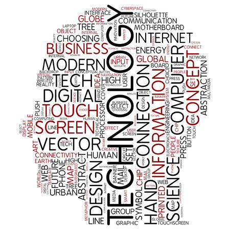 Word cloud - technology photo