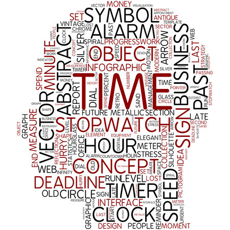 Word cloud - time photo