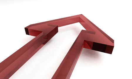 3D arrow in red photo