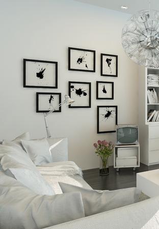 modern living room: Modern living room interior Stock Photo