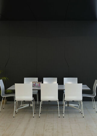 dining room interior: Modern luxury black dining room