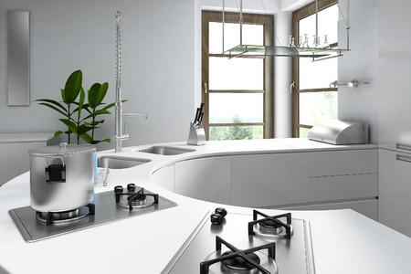 Modern luxury kitchen interior  photo