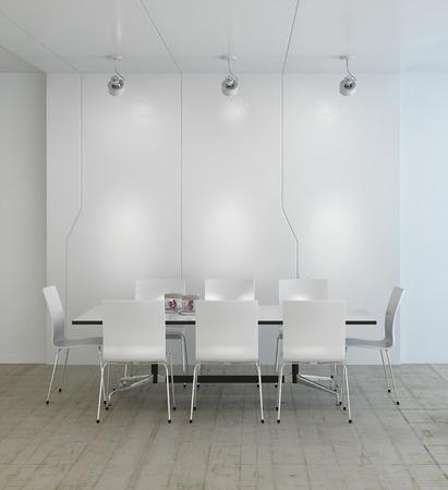 Moderní luxusní bílý jídelna
