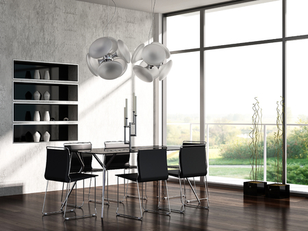 Modern dining room interior Stockfoto