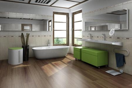 モダンな内装のバスルーム デザイン
