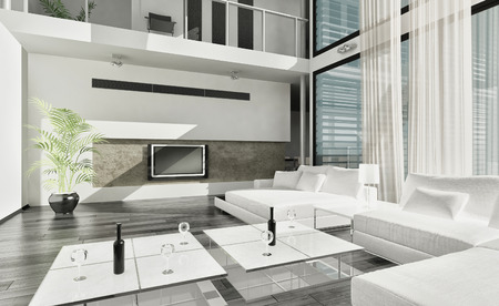 Modern luxury contemporary living room interior photo