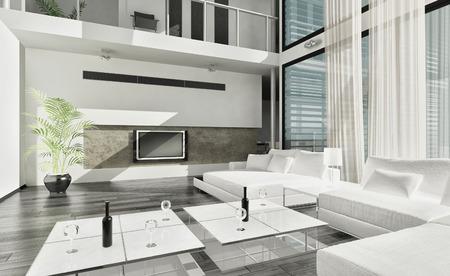 Modern luxury contemporary living room interior